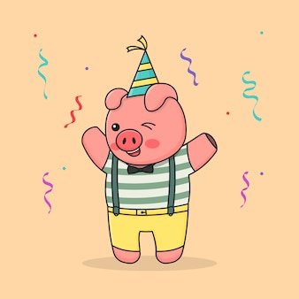 생일 축하 돼지