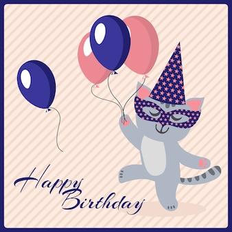 Happy birthday postcard template