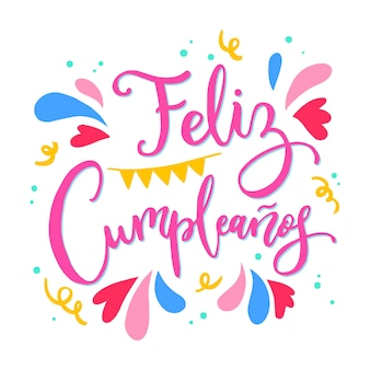 Happy birthday in spanish lettering