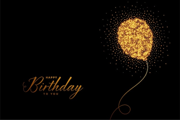 Happy birthday sparkles balloon card