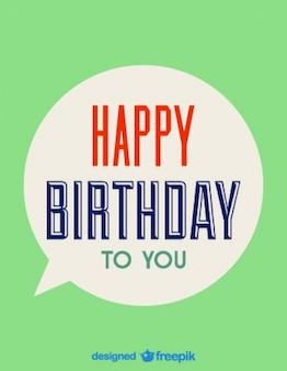Happy birthday speech bubble card