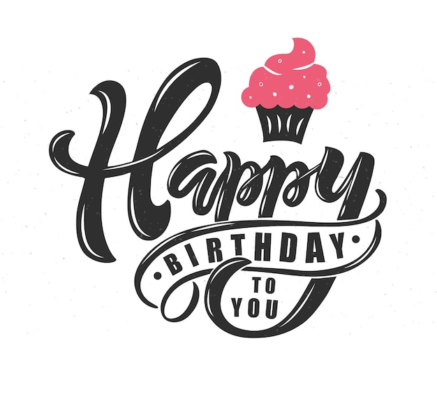 Happy birthday text as birthday badge tag icon happy birthday card invitation banner template