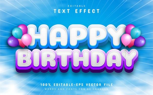 Happy birthday text effect editable