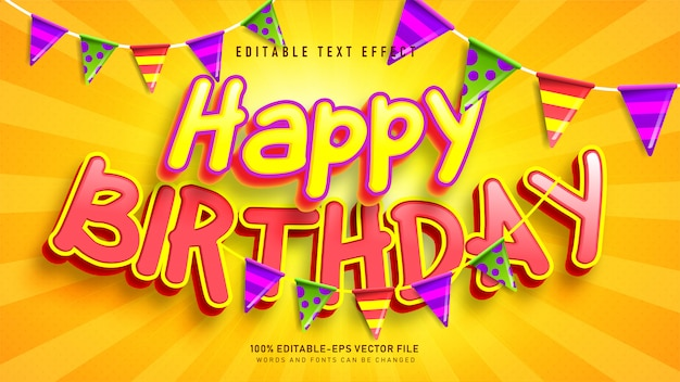 Happy birthday text effect