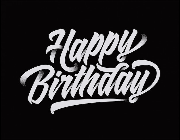 Happy birthday text typography cool design