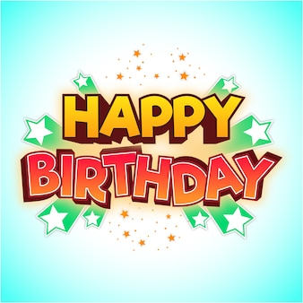 Happy birthday tittle element and background