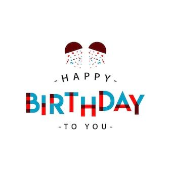 С днем рождения вам векторная иллюстрация дизайна шаблона