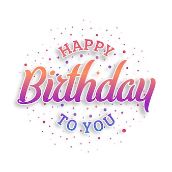 Happy birthday typography vector design for greeting cards and poster, design template for birthday celebration.