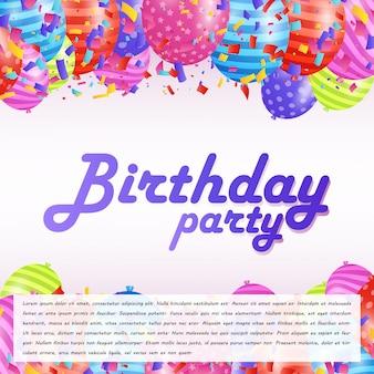 С днем рождения, типографская карта с креативным вектором дизайна