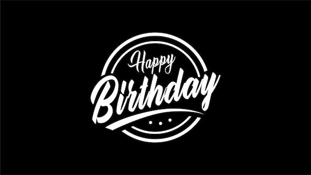 Happy birthday vintage logo