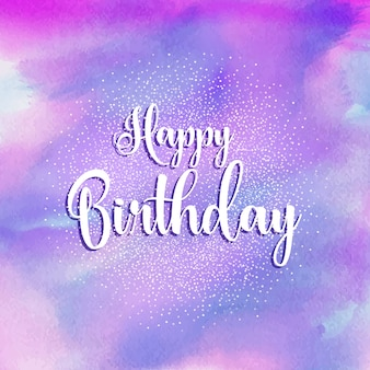 Happy Birthday watercolour background
