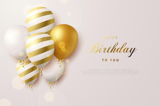 반짝이는 풍선과 함께 생일 축하해