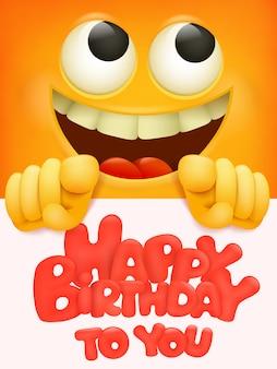 Happy birthday to you card with emoji