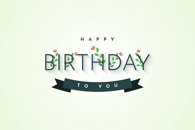 Happy birthday to you illustration template design