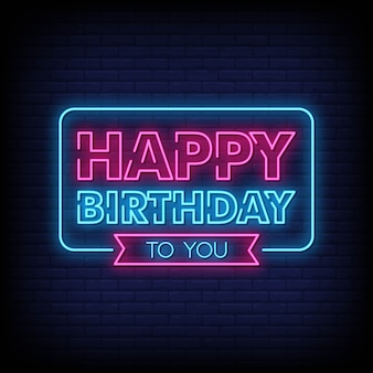 Happy birthday to you neon sign