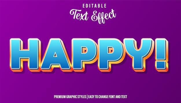 Happy blue, редактируемый стиль текста