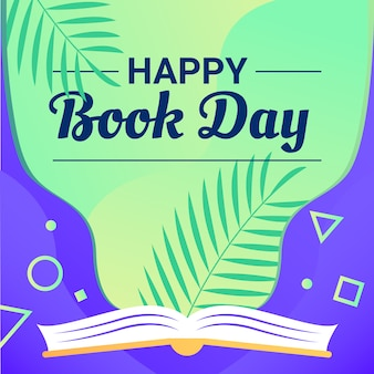 Happy book day background