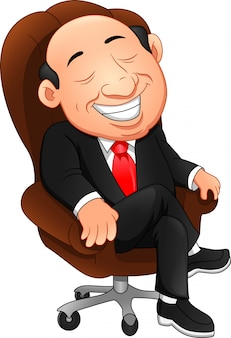 Happy boss cartoon