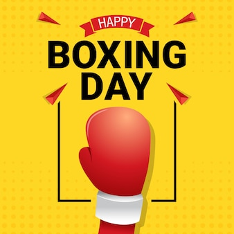 Happy boxing day celebration greeting card