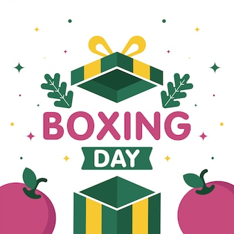 Happy boxing day sale web banner illustration