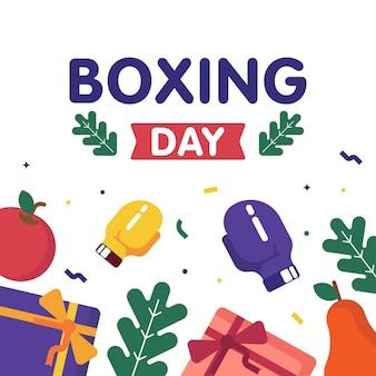 Happy boxing день продажи веб-баннер иллюстрации