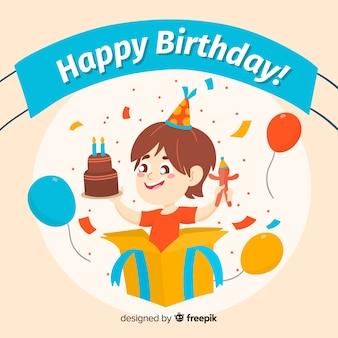 Happy boy birthday background