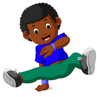Happy boy dancing