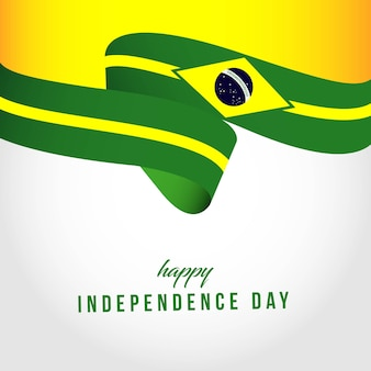 Happy brazil independent day template illustration