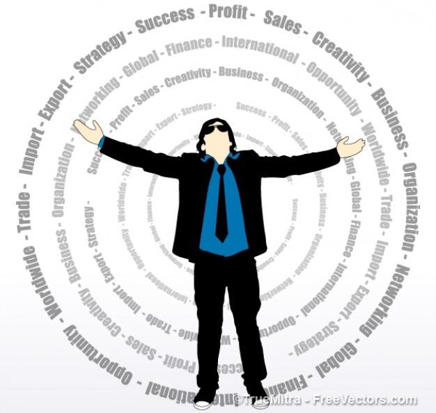 Happy businessman vector graphic