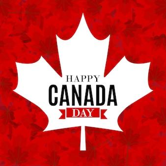 Счастливый день канады фон поздравительных открыток. иллюстрация