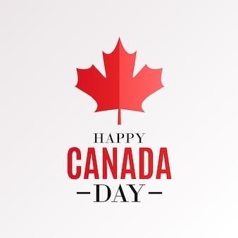 해피 캐나다 데가 배경 인사말 카드