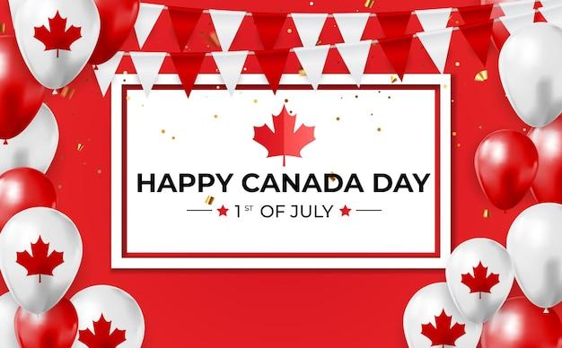 幸せなカナダの日背景グリーティング カード