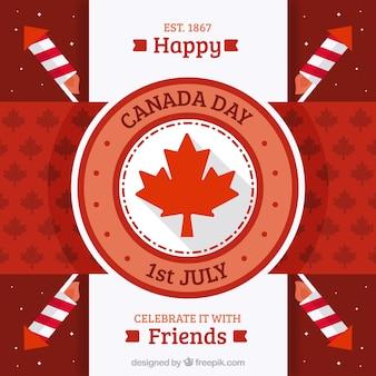 빈티지 스타일에 행복 한 캐나다의 날 배경