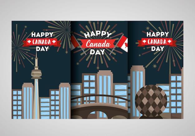 幸せなカナダの日のバナー