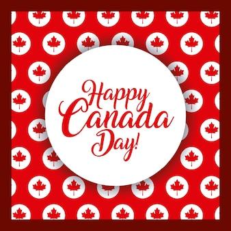 Happy canada day card