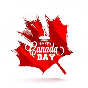 Happy canada day celebration background