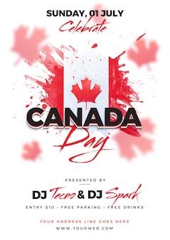 Happy canada day celebration concept