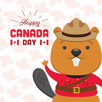 Happy canada day concept