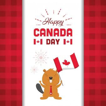 Happy canada day concept