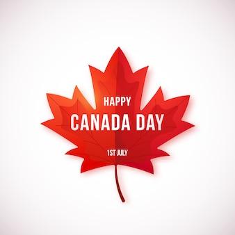 白い背景に分離された幸せなカナダデーデザイン。