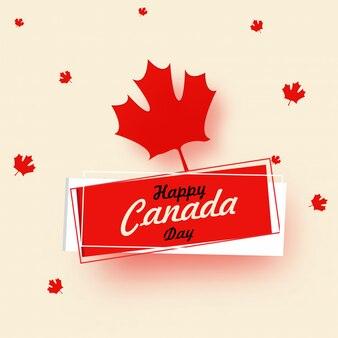 Happy canada day design