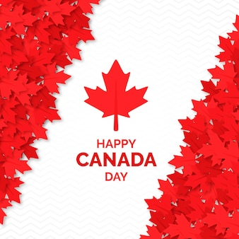 Happy canada day frame of maple leaves
