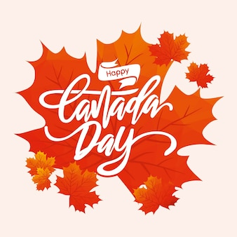 Happy canada day lettering