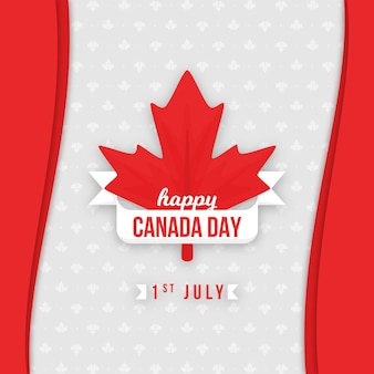 Happy canada day maple leaf