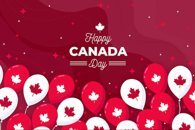 Happy canada day wallpaper with balloons