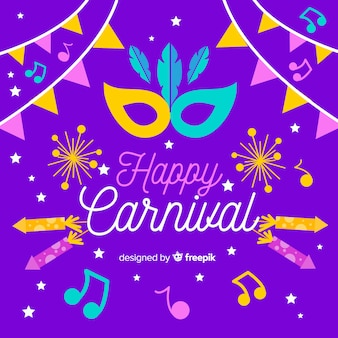 Happy carnival background