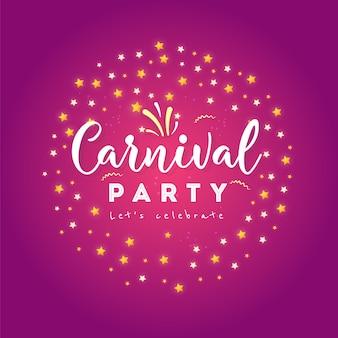 Happy carnival festive concept