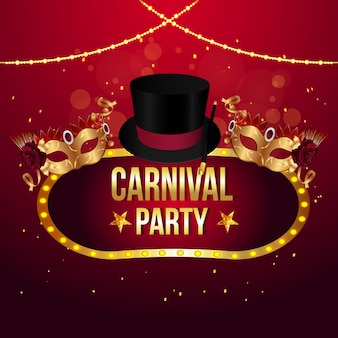 Happy carnival party background
