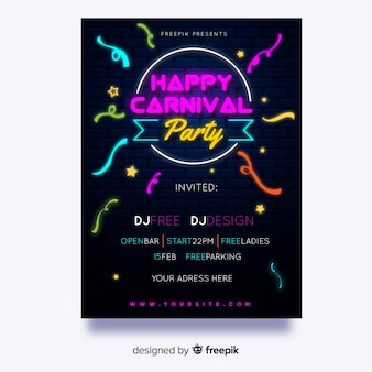 Happy carnival party flyer