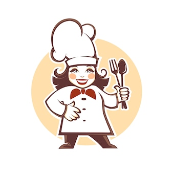 Happy cartoon chef